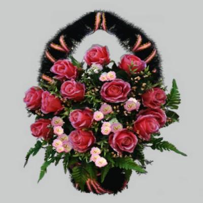 Корзина  элитная из искусственных цветов КЭИ-20