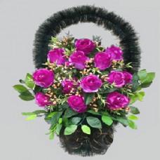 Корзина из искусственных цветов заказная КЗ-06