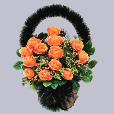 Корзина из искусственных цветов с доставкой в Москве