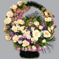 Корзина элитная из искусственных цветов КЭИ-21