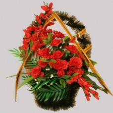 Корзина элитная из искусственных цветов КЭИ-23