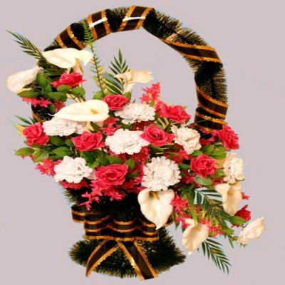 Корзина элитная из искусственных цветов КЭИ-24