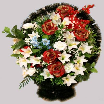 Корзина элитная из искусственных цветов КЭИ-25