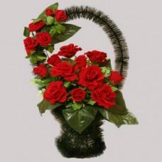 Корзина  элитная из искусственных цветов КЭИ-27