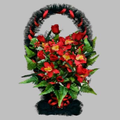 Изготовление корзин из из искусственных цветов в Москве