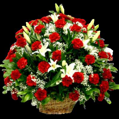 Корзина из живых цветов КЖ-56