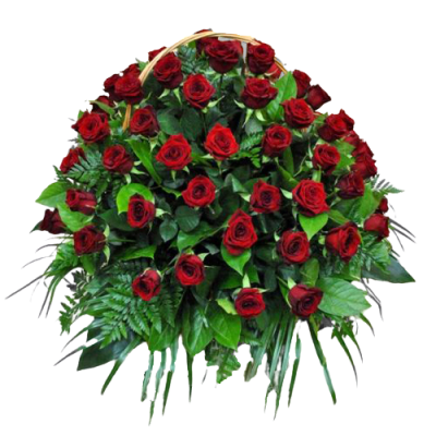 Корзина из живых цветов КЖ-06
