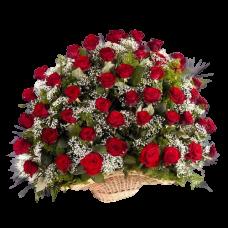 Корзина из живых цветов КЖ-11