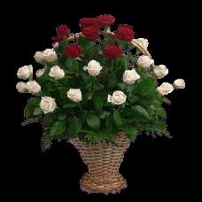 Корзина из живых цветов КЖ-17