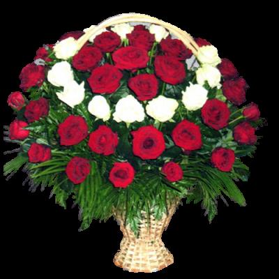 Корзина из живых цветов КЖ-18