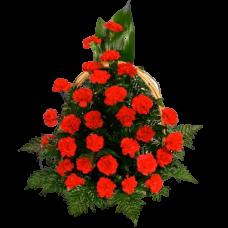Корзина из живых цветов КЖ-22