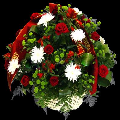 Корзина из живых цветов КЖ-57