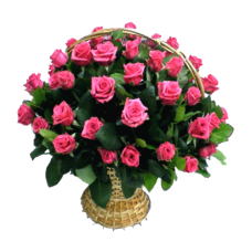 Корзина из живых цветов КЖ-27