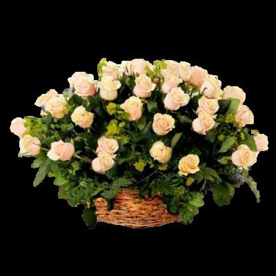 Корзина из живых цветов КЖ-32
