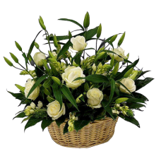 Корзина из живых цветов КЖ-41