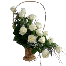 Корзина из живых цветов КЖ-42