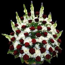Корзина из живых цветов КЖ-04