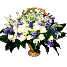 Корзина из живых цветов КЖ-47