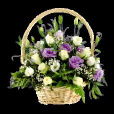 Корзина из живых цветов КЖ-48