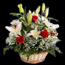 Корзина из живых цветов КЖ-50