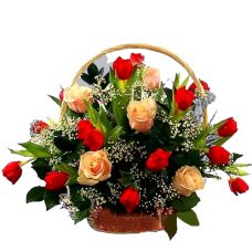 Корзина из живых цветов КЖ-52