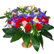 Корзина из живых цветов КЖ-59
