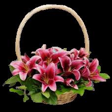 Корзина из живых цветов КЖ-61