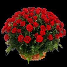 Корзина из живых цветов КЖ-03