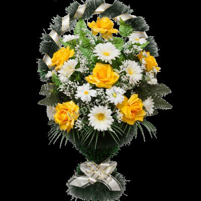 Корзина из искусственных цветов КО-002