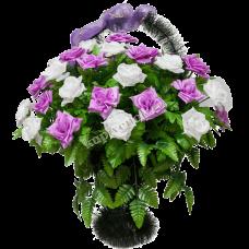 Корзина из искусственных цветов КЗ-11