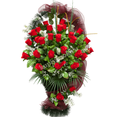 Корзина из искусственных цветов КЗ-12
