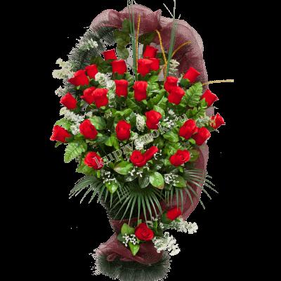 Корзинка из искусственных цветов КО-004