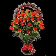 Корзина из искусственных цветов КЗ-15