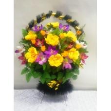 Корзина из искусственных цветов КЗ-17