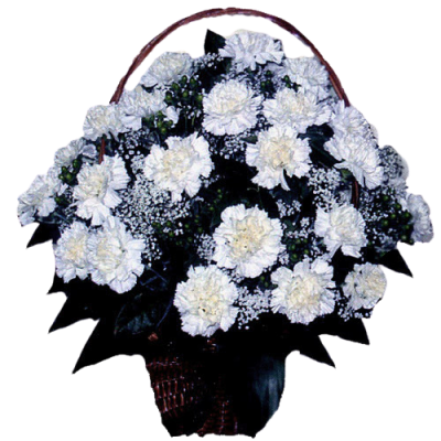 Корзина из живых цветов КЖ-43