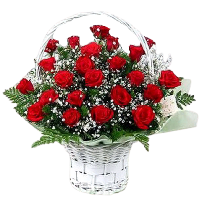 Корзина из живых цветов КЖ-16