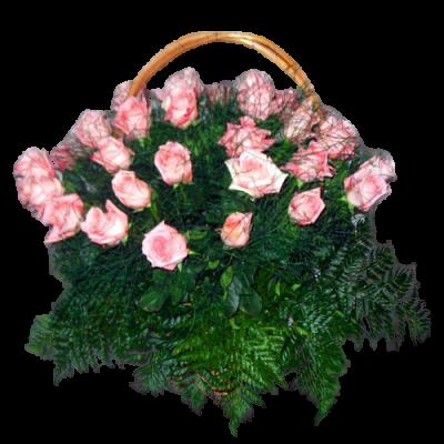 Корзина из живых цветов КЖ-28