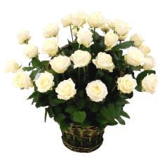Корзина из живых цветов КЖ-40