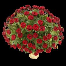 Корзина из живых цветов КЖ-07