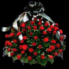 Корзина из живых цветов КЖ-08