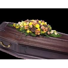Кремационная композиция из живых цветов КР-005