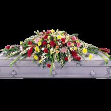 Кремационная композиция из живых цветов КР-007