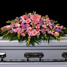Кремационная композиция из живых цветов КР-013