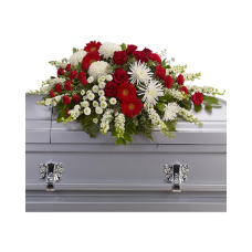 Кремационная композиция из живых цветов КР-017