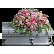 Кремационная композиция из живых цветов КР-015