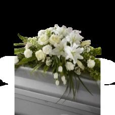 Кремационная композиция из живых цветов КР-020