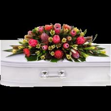 Кремационная композиция из живых цветов КР-008