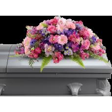 Кремационная композиция из живых цветов КР-009
