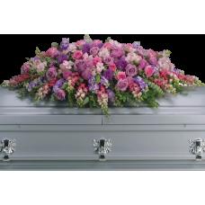 Кремационная композиция из живых цветов КР-011
