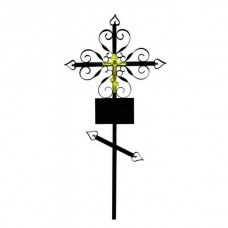 Крест металлический Узоры